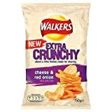 Walkers Extra Crunchy Cheese & Red Onion Crisps 150G