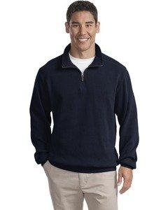 Port Authority - Flatback Rib 1/4-Zip Pullover. F220 - Navy_2XL