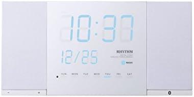 RHYTHM(リズム時計) 【NEW PRODUCT】 音楽やラジオなど、新しい生活スタイルをご提案するLED時計。 TOKIOTO(トキオト) 白色 8RDA71RH03