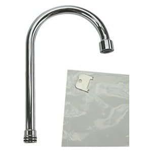 Moen 104429 Commercial Gooseneck Spout 5 3 4 Inch Chrome Faucet Spouts And Kits