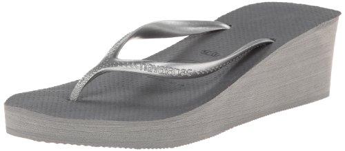 Havaianas Women's High Fashion Flip Flop,Grey,38 BR/8 M US