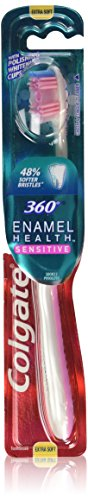 Colgate 360 Enamel Extra Soft Health Sensitive Toothbrush (color may vary)