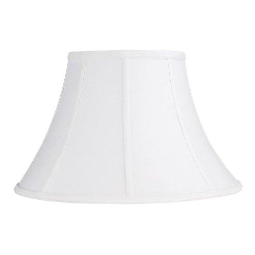 Laura Ashley SNL916 Calais 16.5-Inch Bell Shade, White Home Garden Lighting Accessories Lamp Shades