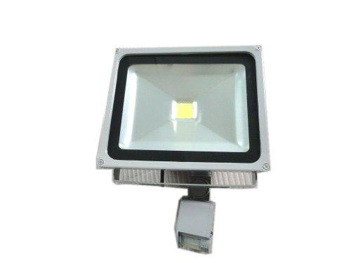 Lenbo 110V 50W Pir Led Flood Light Cold White Floodlight 6000K Motion Sensor Ac85V-265V Grey Case Lw42