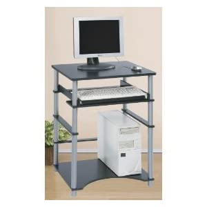 Home Office Dorm Space Saving Laptop Computer Desk Black and Grey NEW ...