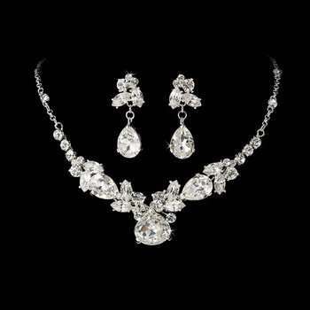 Couture Modern Bridal Necklace and Earring Set Bridal Jewelry
