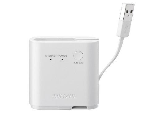 BUFFALO 11n/g/b 300Mbps ポータブル無線LAN親機 ホワイト WMR-300-WH
