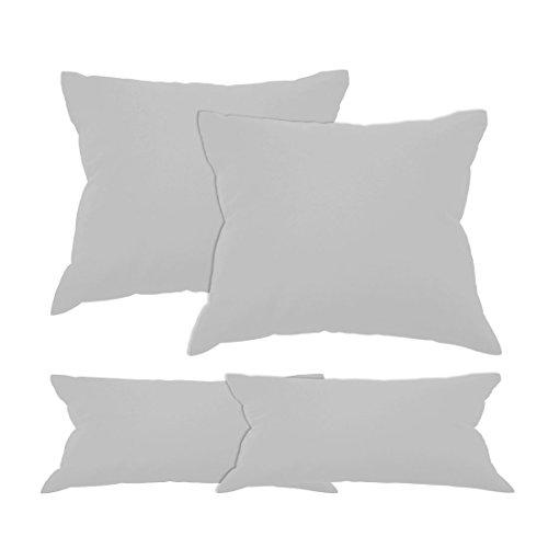 Qool24-Kissenhllen-Doppelpack-Baumwolle-mit-Hotelverschluss-BWLH-in-2er-SET-Bezug-Kissenbezug-32-Uni-Farben-und-19-Gren-Grau-80-x-80-cm