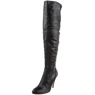 Dollhouse Women's Chrie Over-The-Knee Boot,Black,11 M US