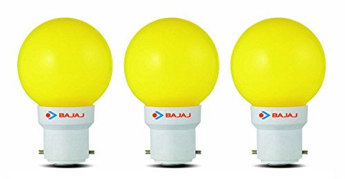 Ping Pong B22 0.5W LED Bulb (Yellow, Pack of 3)