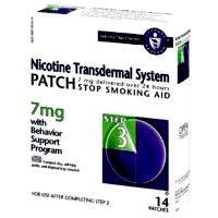 Novartis Nicotine Transdermal System Stop Smoking Aid Patch, Step 3, 7 mg – 14 ea