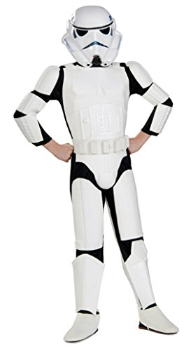 Boys Stormtrooper Deluxe Kids Child Fancy Dress Party Halloween Costume