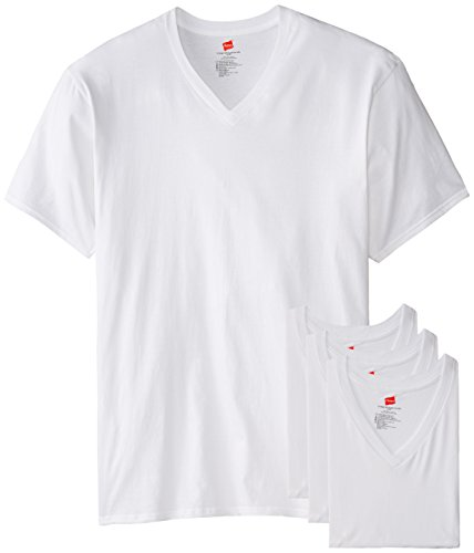 Hanes Men's Tall 3-Pack Man V-Neck T-Shirt, White, 6X-Large/Tall (Big And Tall V Neck T Shirts compare prices)