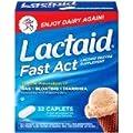 Lactaid Lactose Enzyme Supplement, Caplets, 32 Ct (Pack 2)