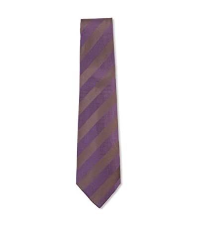 Kiton Men's Diagonal Striped Tie, Purple/Brown