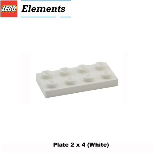 Lego Parts: Plate 2 x 4 (White) (Lego Building Plate White compare prices)