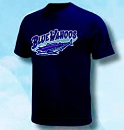 Minor League Baseball Blue Wahoos T-Shirt Style Jersey (Youth Large)