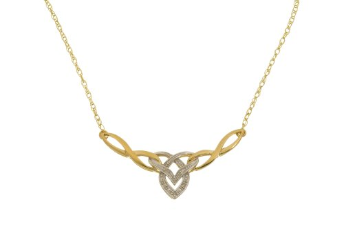 9ct Yellow Gold PNE1704 Ladies' Diamond Necklace