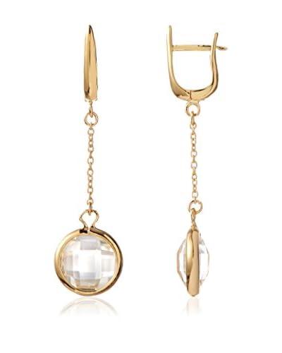 Daniela Swaebe 18K Gold-Plated Faceted Quartz Dangling Drops Earrings