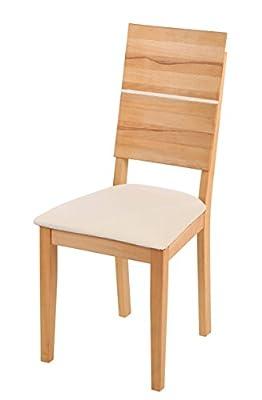 SAM® Esszimmerstuhl Hugo Kernbuche geölt mit cremefarbiger Sitzfläche Lieferung per Paketdienst zerlegt von SAM auf Gartenmöbel von Du und Dein Garten