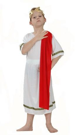 White/Red Roman Emperor S Childrens Costume Boy's Small, 5 7 Years