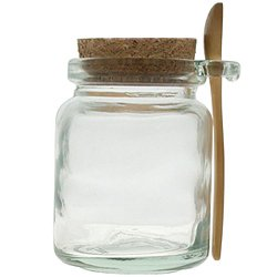 8oz Glass Jar with Spoon