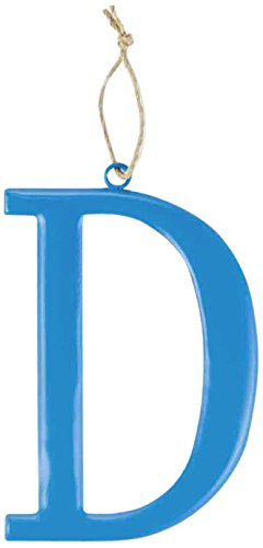 Mud Pie Tin Initial Wall Hanging for Boy, D, Large