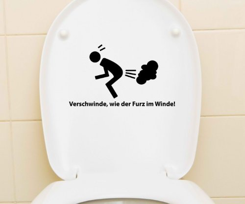 aufkleber wc deckel toiletten sticker bad spruch lustig klodeckel tattoo 3c019 farbe schwarz. Black Bedroom Furniture Sets. Home Design Ideas