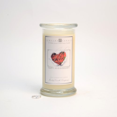 Happy Anniversary Greeting Candles By Jewelry Candle Company