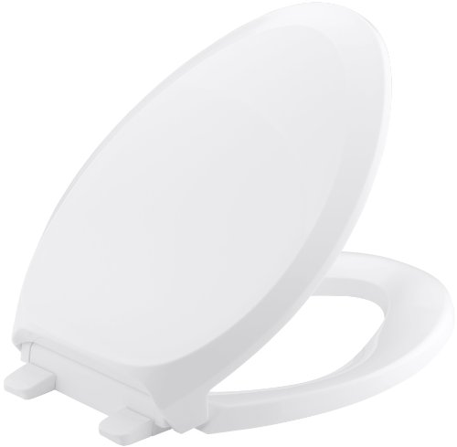Kohler K-4713-0 French Curve Quiet-Close Elongated Toilet Seat, White front-629152