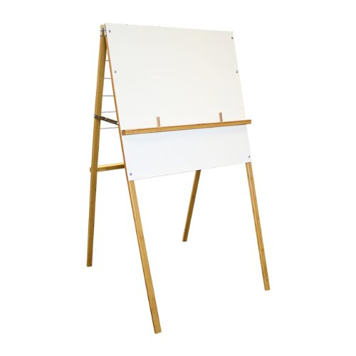 Quartet Big Book Easel, Fully Collapsible, 47 Inches Tall, 24 x 18 Inch Whiteboard Panel, 6 Hangers on Back (XEHBB)