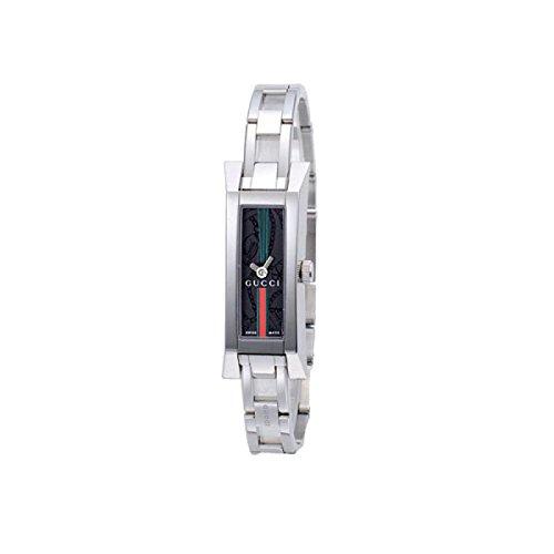 Orologio Gucci Stainless Steel Bracelet YA110512 Al quarzo (batteria) Acciaio Quandrante Nero Cinturino Acciaio
