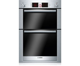 Bosch Serie 8 HBM56B551B Built In Double Oven - Stainless Steel. It Will Perfeclty Look Great Built Into Your Kitchen