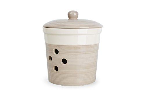 Pot à Oignon 16xh14cm Ail/Crème