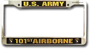 """101st Airborne Division - 6"""" x 12"""" Metal License Plate Frame"""