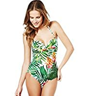 Leaf Print Padded & Underwired Swimsuit