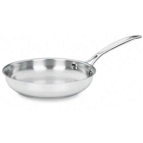 Cuisinart Chef's Classic Stainless 14-Inch Open Skillet with Helper Handle