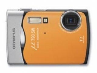 Olympus Mju Tough 790 SW Digital Compact Camera - Sunset Orange (7.1MP, 3 x Optical Zoom) 2.5