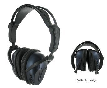 Av-Jefe Vanc700 Active Noise-Cancelling Stereo Headphone_Acoustic Noise Cancelling, Cancel Ambient Noise Headphone, Dual-Prong Adapter (For Airplane Use), Adjustable/Attachable Cord