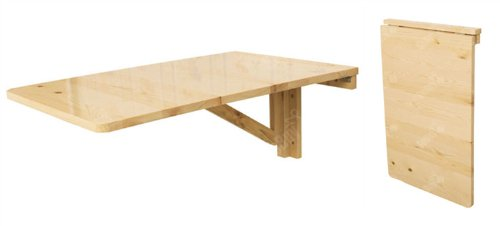 Chambre denfant table murale rabattable en bois table for Table rabattable bois