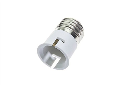 Shangge Ce&Rohs Certification 5 Pcs E27 To B22 Led Bulb Base Converter Halogen Cfl Light Lamp Adapter Socket Change Pbt
