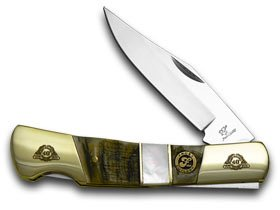 Frost Family 40Th Anniversary Ram Horn And Mother Of Pearl 1/600 Barracuda Pocket Knife Knives