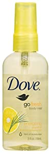 Dove go fresh Energizing Body Mist, 3 Ounce  (Pack of 6)