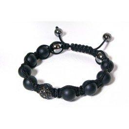Tresor Paris Hoche Diamond Set 18ct Black Plated Bracelet