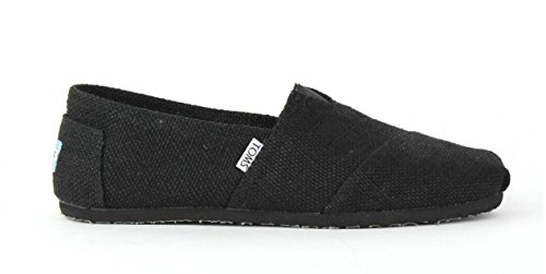 Toms Women's Classic Burlap Slip On Black Shoes Size 6 (Toms Shoes Size 6 compare prices)