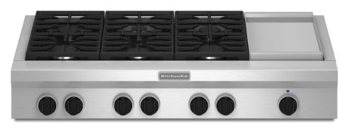 Kitchenaid KGCU483VSS Commercial-Style Gas Cooktop