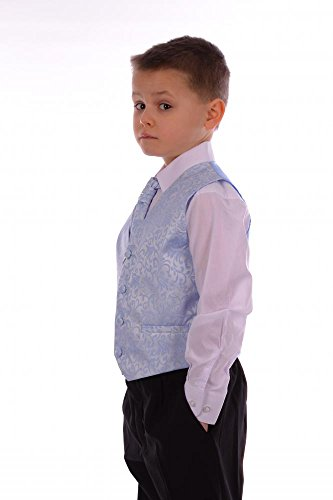 Boys Suits Pale Blue Swirl Suit Wedding Formal Pageboy 4 Piece 3-6 ...