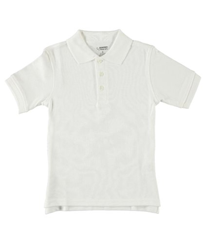 French Toast S/S Knit Polo Shirt - white, 12