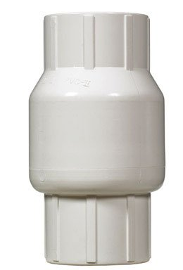 King Brothers Inc. KC-1500-S 1-1/2-Inch Slip PVC Schedule 40 Spring Check Valve, Gray