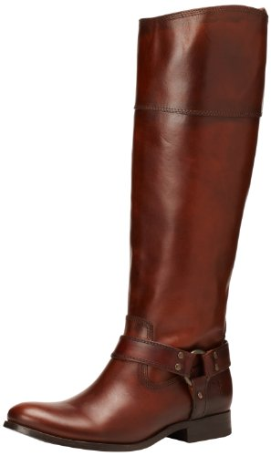 FRYE Women`s Melissa Harness InSide-Zip Boot, Redwood Smooth Vintage Leather Wide Calf, 7 M US